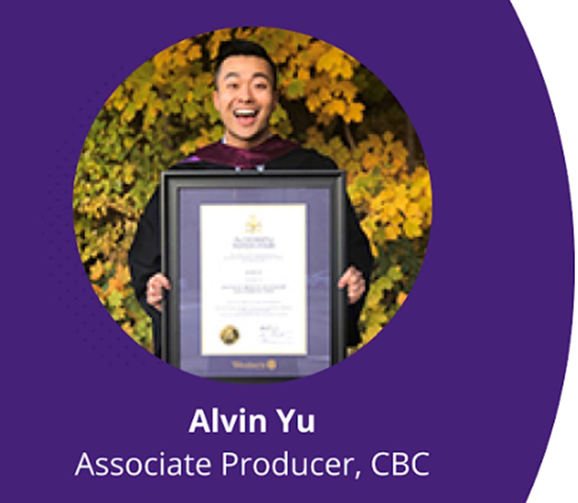 Alvin Yu, Associate Producer, CBC