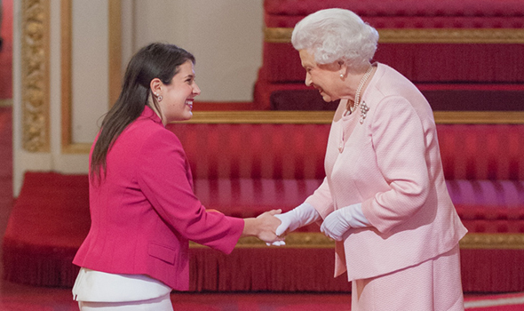 Melissa Kargiannakis and Queen Elizabeth II