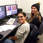Students working in an Avid Editing Suite